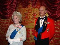 Elizabeth II Wax Statue in Madame Tussauds London.jpg
