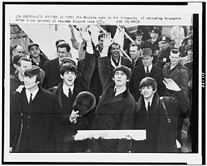 The Beatles, Kennedy Airport, February 1964.jpg